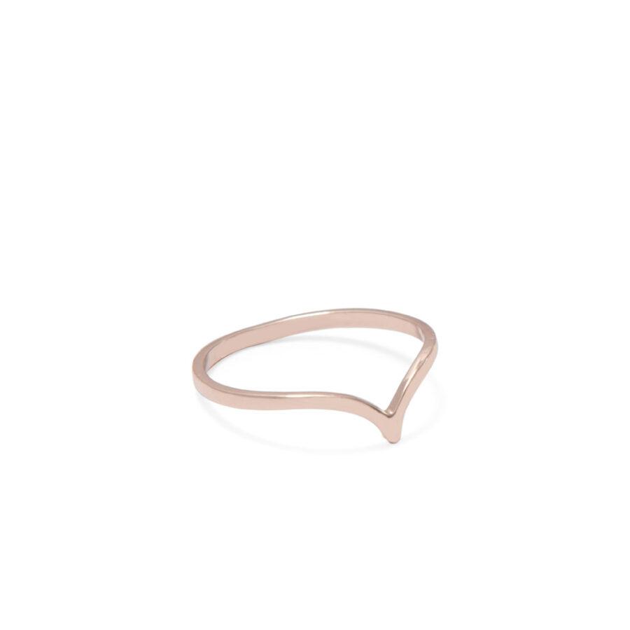 Rose Gold Chevron Ring
