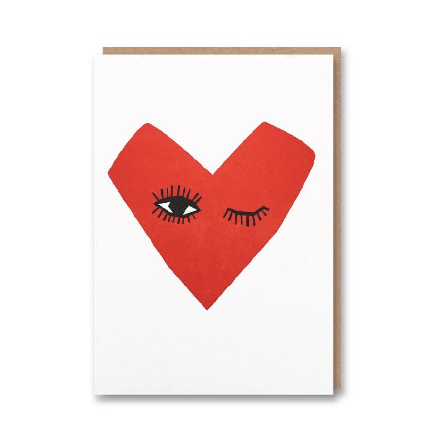 Winking Heart Card