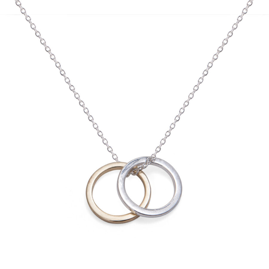 Contrast Circles Necklace