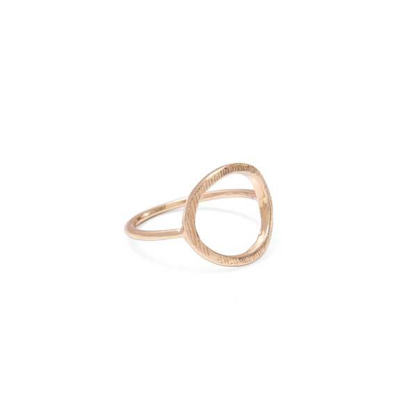 Web Exclusive, Gold Circle ring