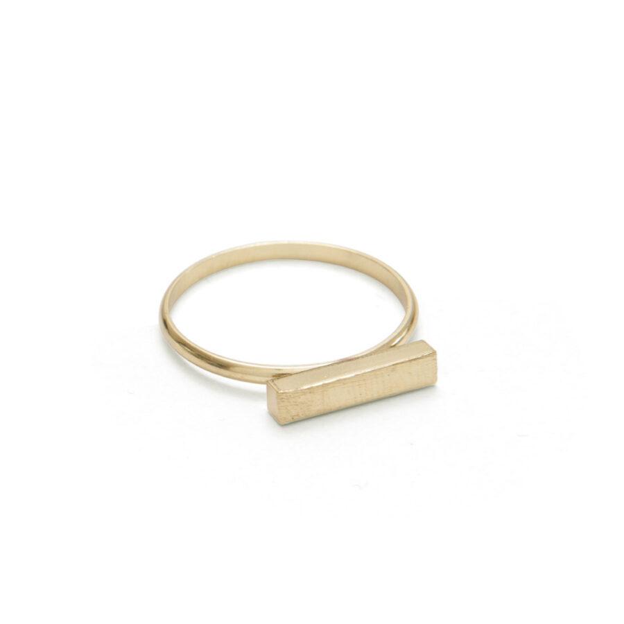 Gold Bar Ring