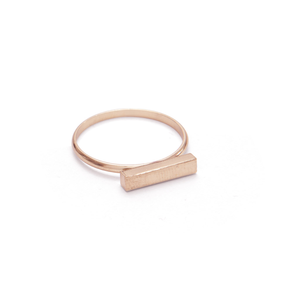 Rose Gold Bar Ring