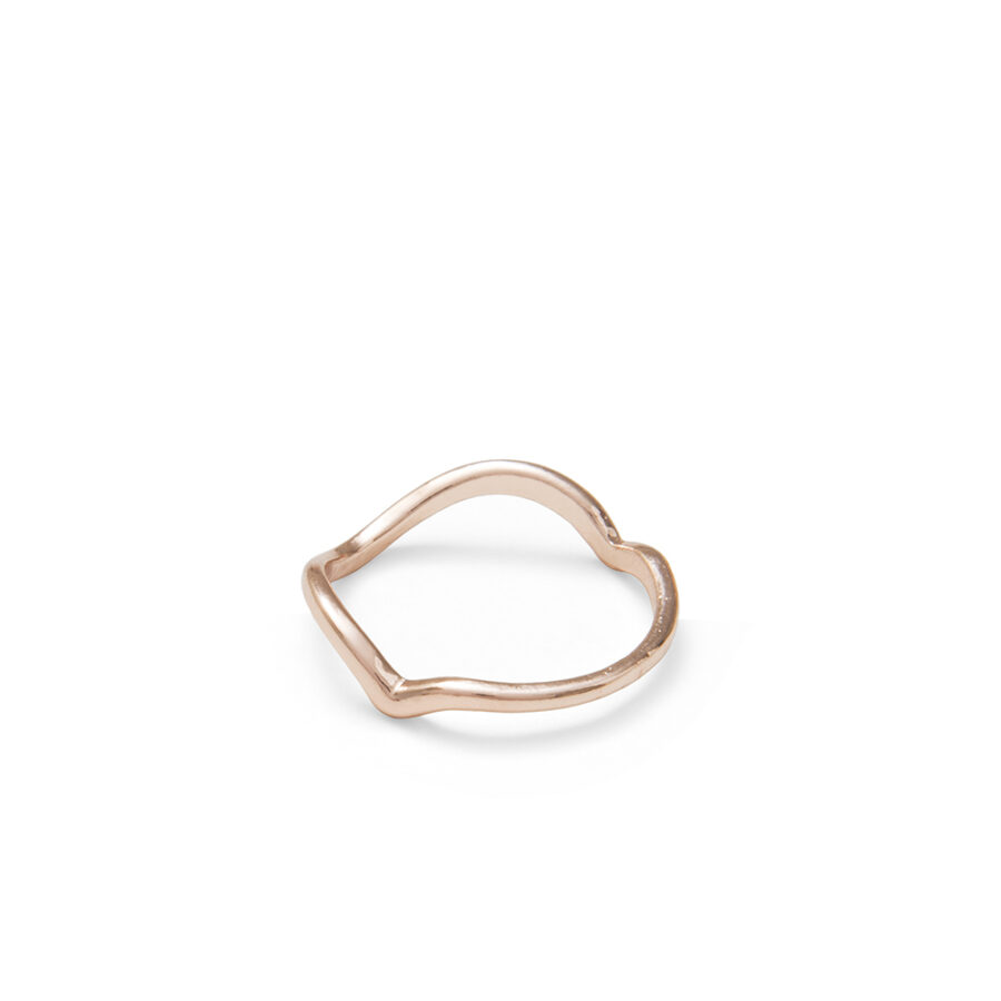 Rose wave ring