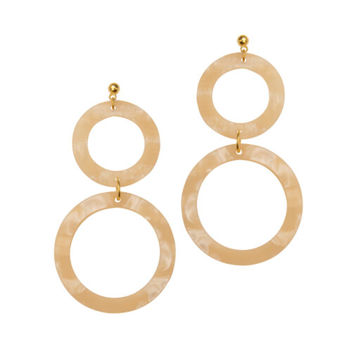 Cora Earrings in Linen