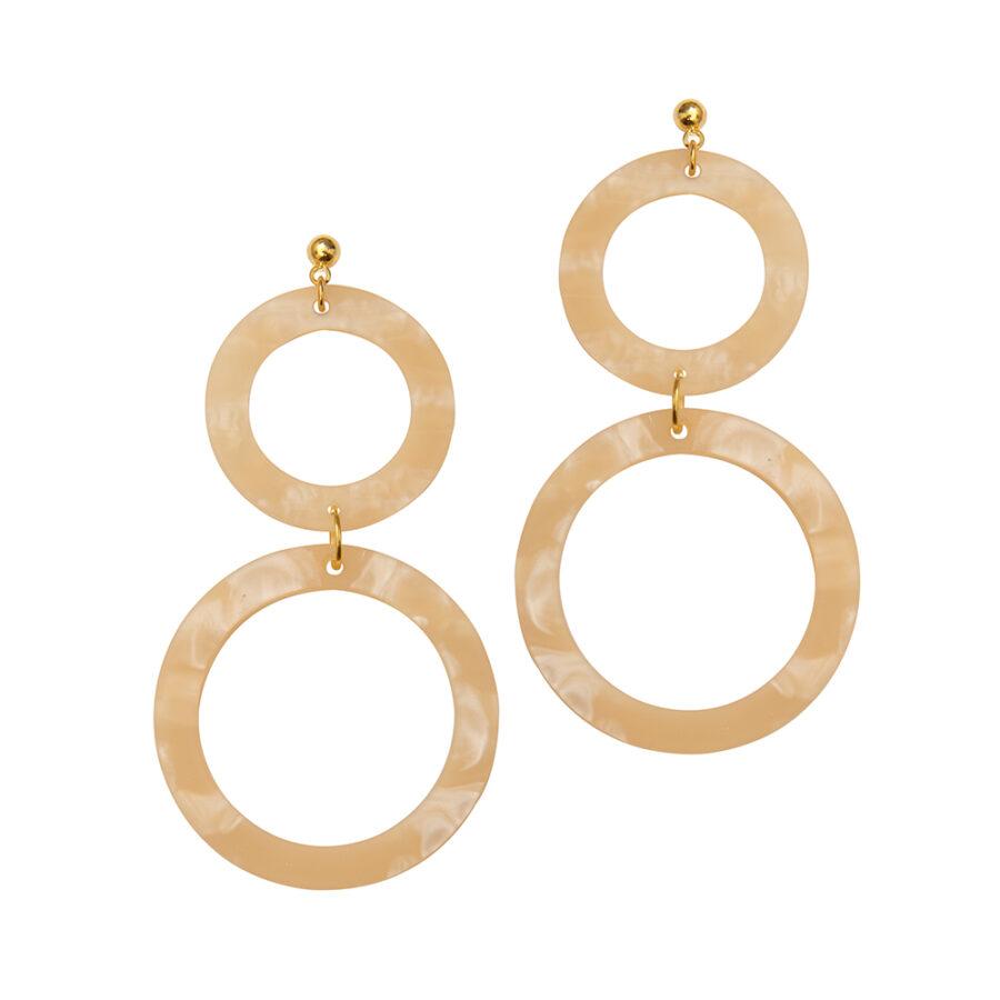 Cora Earrings in Linen