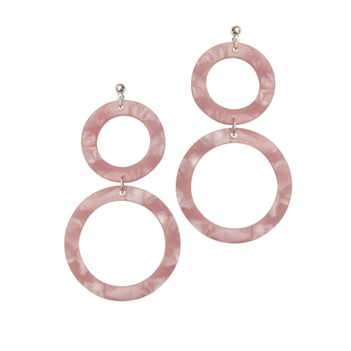 Cora Earrings in Rose