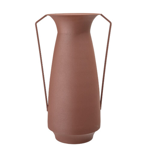 Brown Metal Vase