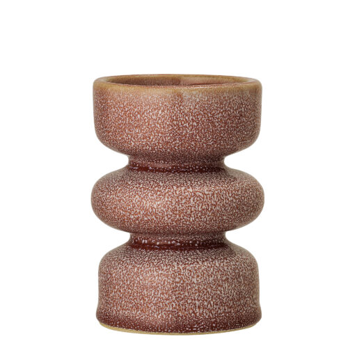 Rose Stoneware Candlestick Holder