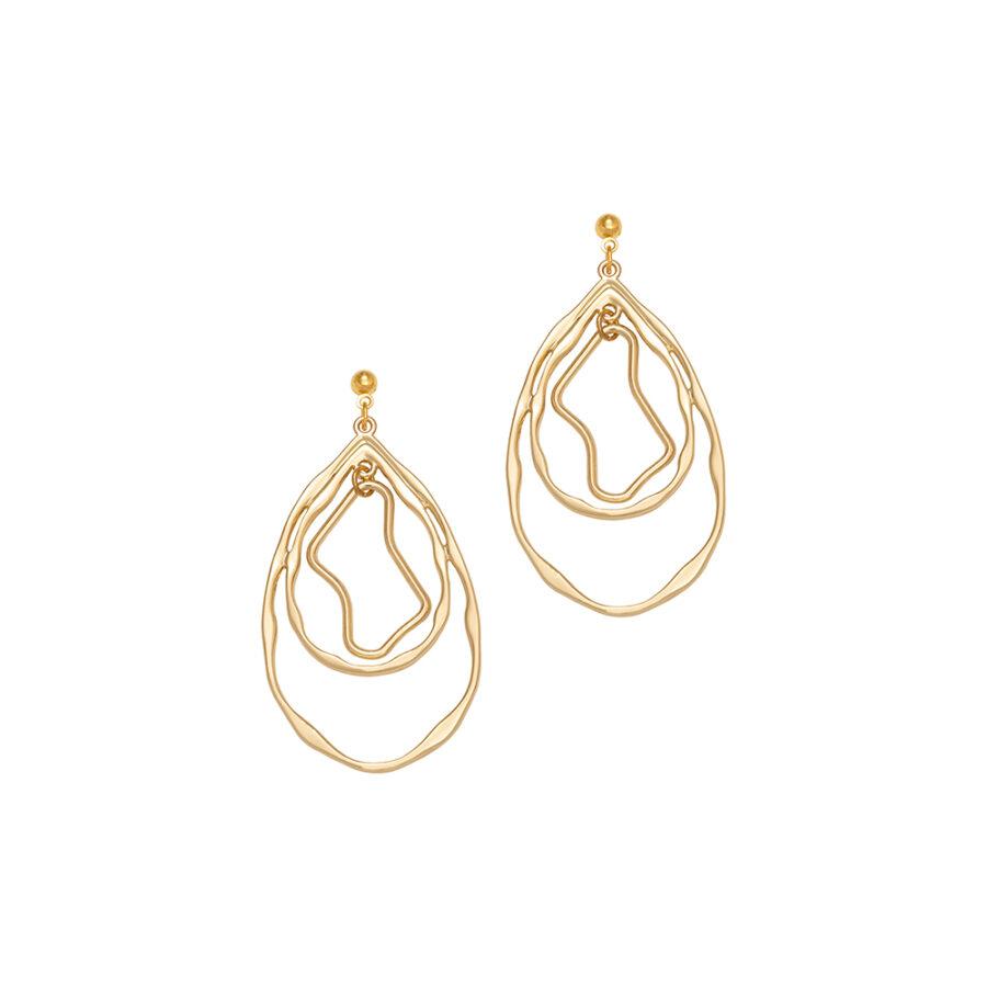 Women's jewellery, Gold Earrings, Statement Earring, Hoop Earrings, Handmade jewellery, contemporary design, Design-led jewellery, Fashion, Style
