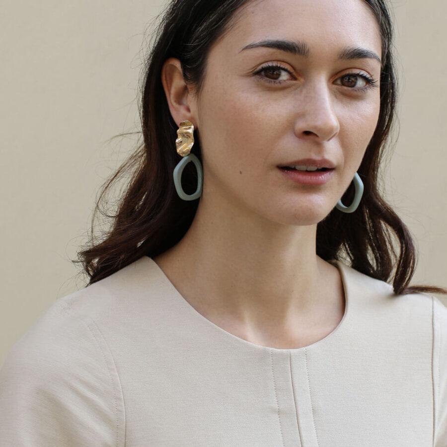 Alexa Earrings - Fern