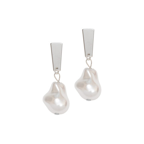 Women's jewellery, Silver Earrings, Jewellery, Design-led jewellery, Modern Earrings, Fashion, Style, Contemporary Design, Pearl Earrings