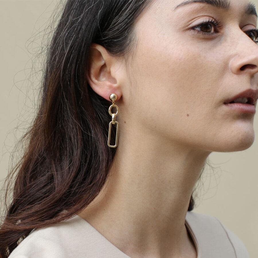 Women's jewellery, Gold Earrings, Design-led jewellery, Handmade jewellery, London Jewellery, Accessories, Contemporary design,