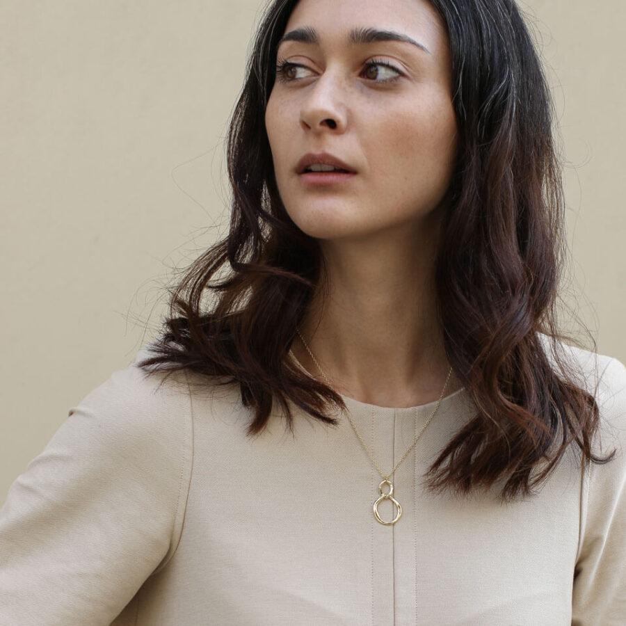 Women's jewellery, Gold necklace, handmade jewellery, elegant necklace