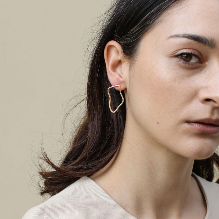 Women's jewellery, earrings, gold studs, modern jewellery, handmade jewellery, London jewellery, Fashion,