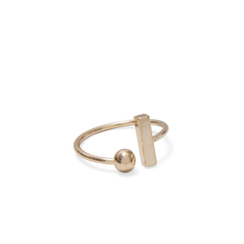 Gold Ball & Bar Ring