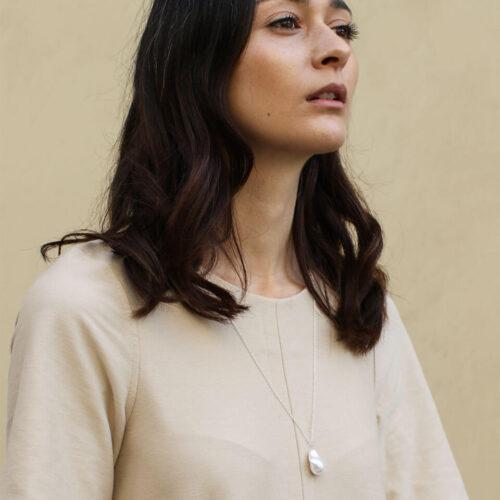 Women's jewellery, necklace, silver necklace, accessory, modern design, minimal jewellery, handmade jewellery, fashion, nickel free, London jewellery