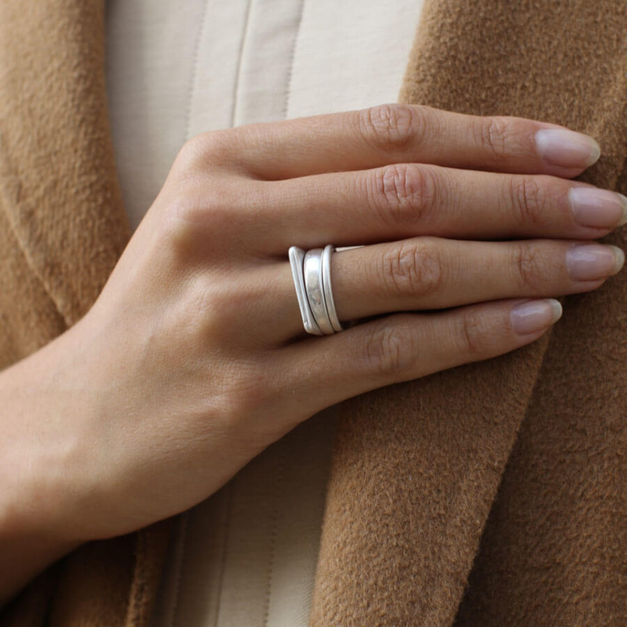 Women's jewellery, silver ring, Design-led jewellery, Modern jewellery, Fashion, Minimalism, Style