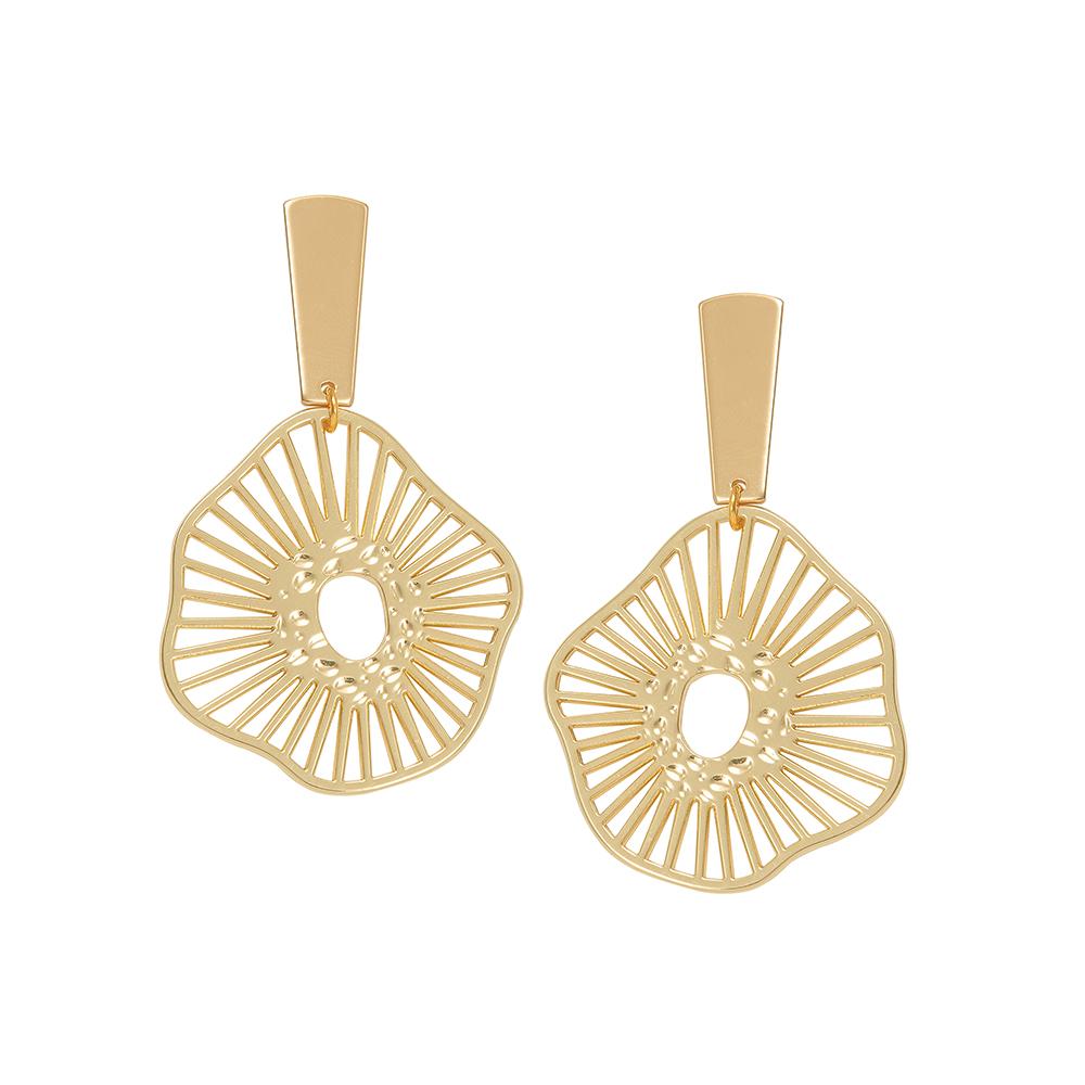 Women's jewellery, gold earrings, statement earrings, abstract earrings, design-led, fashion, modern earrings, style