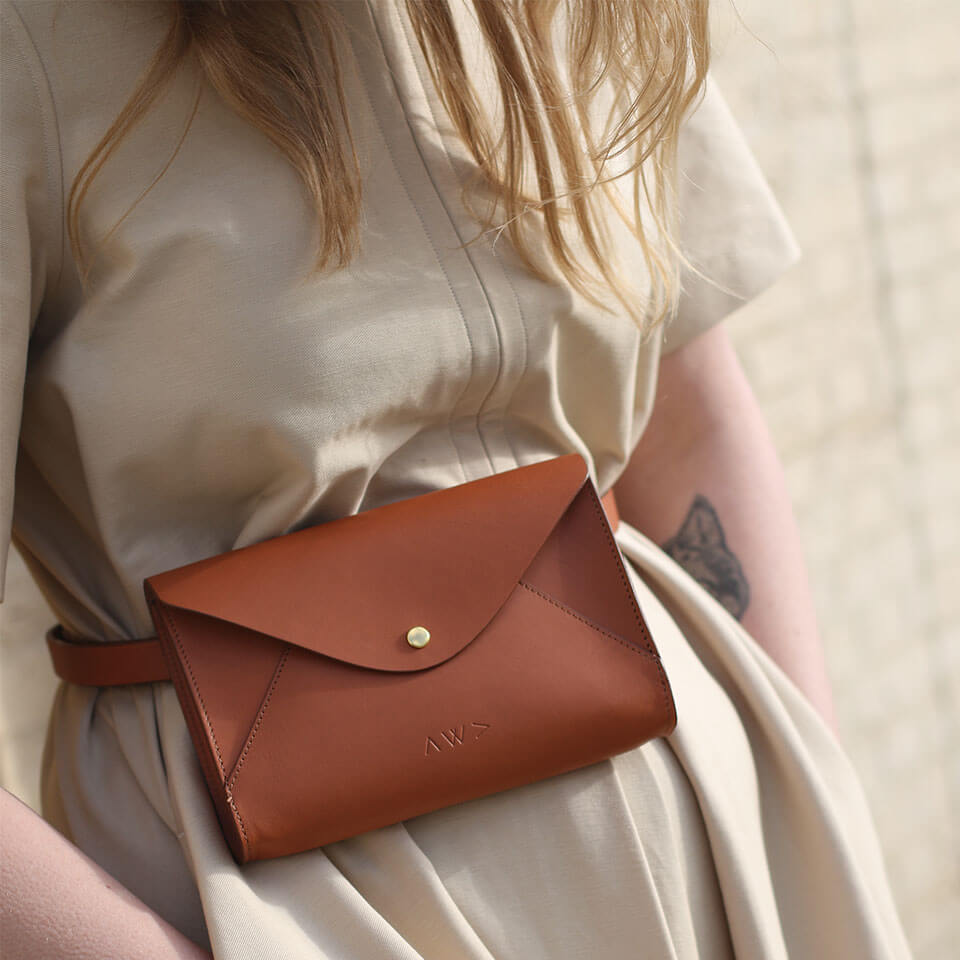 Women's bag, Leather Bag, Belt bag, Handmade in London, London Bags, Day bag, Fashion Style